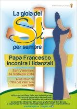 Il discorso di Papa Francesco ai fidanzati il14/02/2014