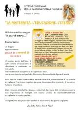 """""""LA MATERNITÀ, L'EDUCAZIONE, L'ETERNO"""" – 15 dicembre2017"""